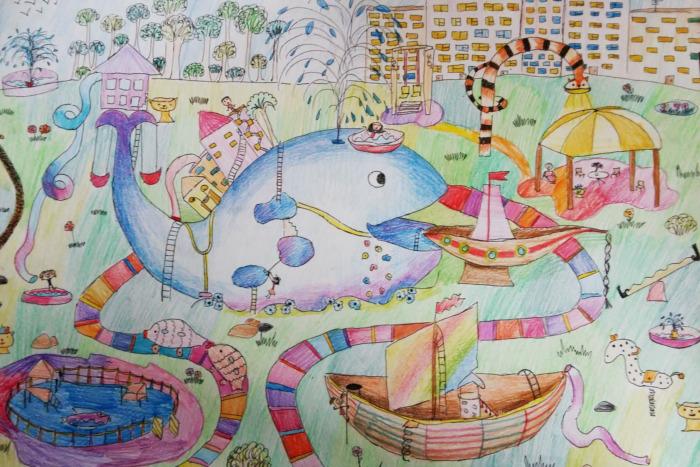 Ушу смешные, рисунок детский сад будущего